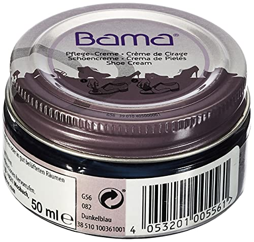 Bama Unisex Pflegecreme 50ml Schuhpflegeprodukt, dunkelblau, 50 ml