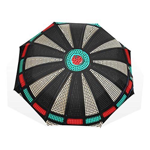 Umbrella Vintage Game Dartscheibe Wheel Skull 3 Folds Lightweight Anti-UV