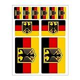 Generisch 10 Stück Flaggen Aufkleber Deutschland Bundesadler Set | Sticker Germany Adler BRD Autoaufkleber