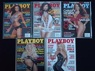 PLAYBOY MAGAZINE (5ct Lot) WWE Superstar Diva's 2008 Maria Kanellis, 2006 Candice Michelle, 2005 Christy Hemme, 1999 Sable 1 & 2