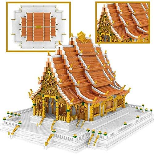 hsj LF- Gebäude Set, 9846Pcs-Gebäude, Architekturmodell, Schwierige Bauklotz Herausforderung for Erwachsene und Kinder Lernen
