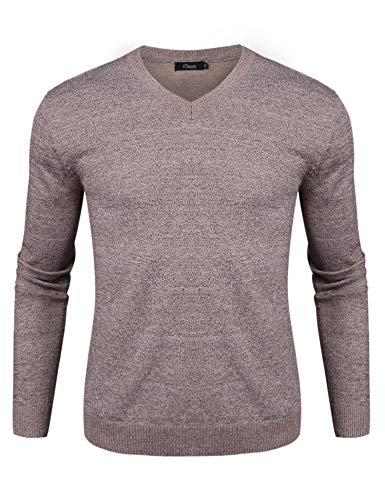 iClosam Jerseys Hombre Invierno Punto Casual SuéTer Slim Fit Sweatshirt JerséY CláSico para Hombre OtoñO