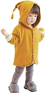 Baby Coat 1-4 Years Old,Infant Toddler Boys Girls Kids Solid Warm Long Sleeve Hooded Jacket Cardigan Outerwear