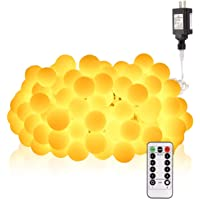 Aloveco 33ft 100 LED Globe String Lights ith Remote & Timer