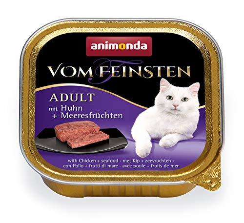 animonda Vom Feinsten Adult Katzenfutter, Nassfutter für ausgewachsene Katzen, mit Huhn und Meeresfrüchten, 32 x 100 g