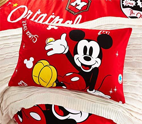 OUDE Diney 100% algodón Rojo de Dibujos Animados 1Pc Regalo ale Caliente Mickey Minnie Inicio Niños Textiles' Preent Pillowham 48x74cm