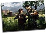 The Last of Us - Póster de la parte 2, diseño de Joel Teaches Ellie a Shooting Canve Art para baño, estirado y listo para colgar