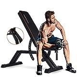 FEIERDUN Weight Bench - 1000LBS Utility Adjustable Weight Bench Heavy Duty Workout Bench &...
