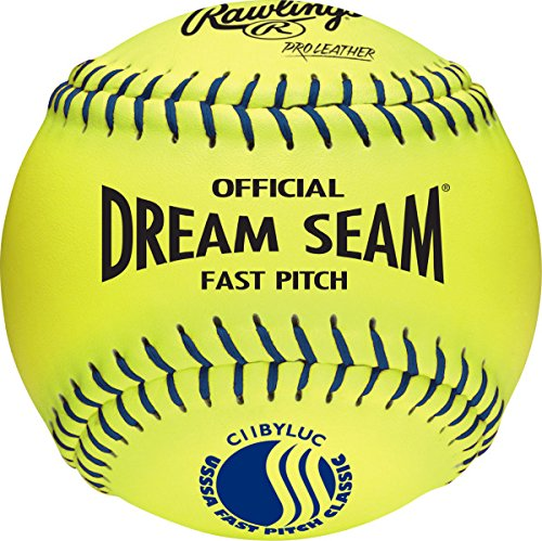 Rawlings Official USSSA Fastpitch Softballs, C11BYLUC, Single Ball