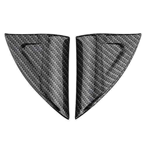 KIMISS 2 stuks autodeur raam driehoek afdekking, binnenraam driehoek trim decoratieve stickers voor 17-18