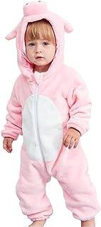 Happy Cherry Baby Strampler Winter Kostüm Animal Halloween Party Weihnachen Babyspielanyug Junge Mädchen - Maus Fuchs Eule Kuh Schwein - 0-2 jarhe