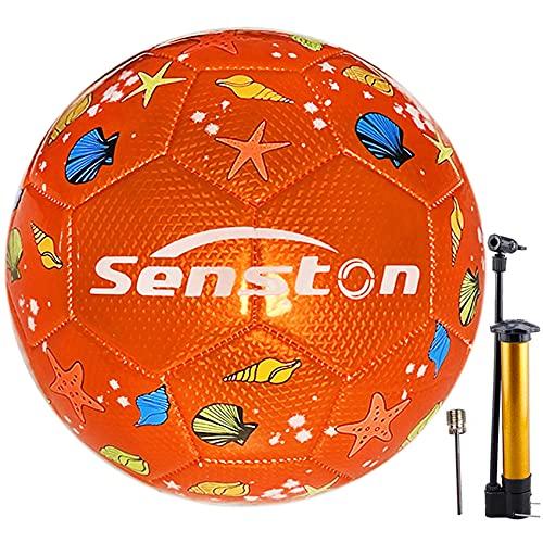 Senston Balon Futbol Tamaño 3, Balon de Futbol de Entrenamiento Deportivo a Prueba de Agua
