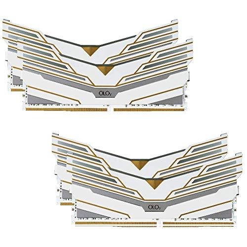 OLOy DDR4 RAM 128GB (4x32GB) Warhawk Aura Sync RGB 3200 MHz CL16 1.35V 288-Pin Desktop Gaming UDIMM (MD4U3232161DCWQX)