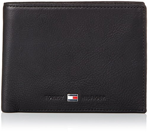 Tommy Hilfiger Johnson CC And Coin Pocket, Portafoglio Uomo, Nero (Schwarz (Black 990), 13x10x2 cm (B x H x T)