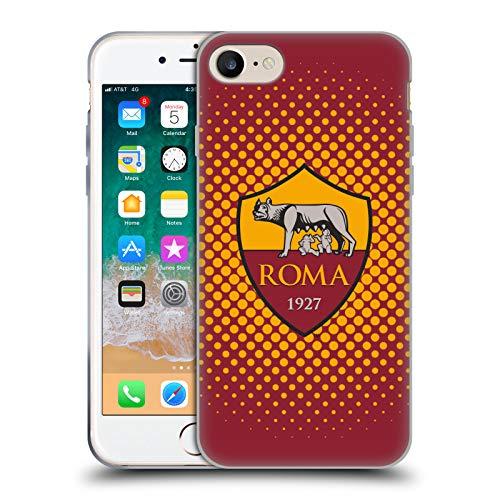 AS Roma Head Case Designs Mezzotono Cover in Morbido Gel per iPhone 7 / iPhone 8