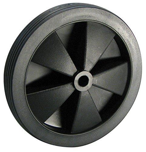Dörner + Helmer 709132 Leichtes Rad, PVC-Bereifung mit Kunststofffelge, Schwarz