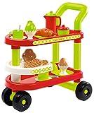 Ecoiffier-Trolley Desayuno 100% Chef 1612, Multicolor, (16120)
