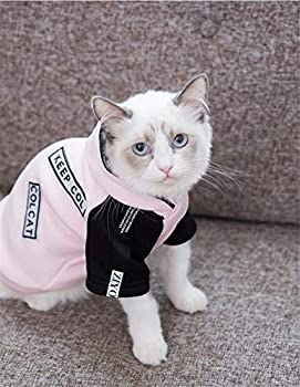 HCYD Chat vêtements Sphinx Chat Rose Chaton Pull Pull Chaud, s, Bleu