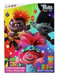 Trolls World Tour Christmas Advent Calendar 2020 Filled with Milk Chocolate Candy Countdown to Xmas for Kids, 1.76 Ounces