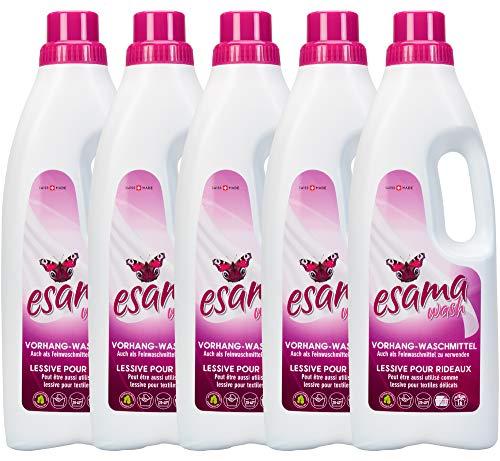 ESAMA 5x1L Vorhang-Waschmittel Feinwaschmittel Für Vorhänge Gardinen-pflege