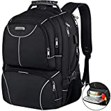 Lunch Bag Backpack, Insulated Cooler Lunch Box Backpack, Extra Large Travel Laptop Backpack TSA Friendly RFID Durable Computer College School Bookbag with USB Port for Women Men Fits 17.3 Inch Laptop