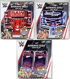 WWE Package Deal Pop Ups Set of 3 (Raw, Smackdown & Live Crowd) - Wicked Cool Toys Toy Wrestling Action Figure Pop Up Accessories