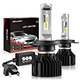 SEALIGHT H4/9003/HB2 LED Headlight Bulbs X1 Series Dual High/Low Beam Xenon White 6000K 6000LM