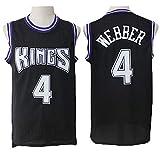 TPPHD Jerseys de Baloncesto para Hombre, NBA Sacramento Reyes # 4 Chris Webber Classic Swingman Jersey, Tejido Transpirable Fresco de la Vendimia Uniforme de Ventilador de la Estrella Unisex,1,S