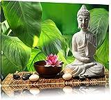 Seerosenblüte mit Buddha Statue Format: 60x40 auf