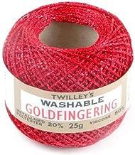 Twilleys of Stamford Goldfingering Knitting & Crochet Yarn 3 Ply 0038 Red - per 25 gram ball