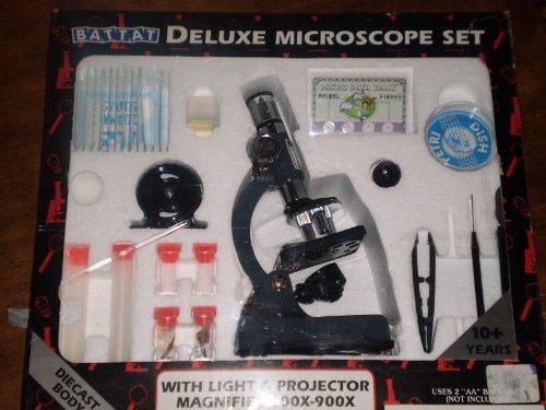 Deluxe Die Cast Microscope Set 100x 900x