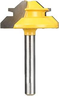 Yakamoz 1/4-Inch Shank 45-Degree Small Lock Miter Router Bit   1-3/8 Inch Diameter   1/2-Inch Stock