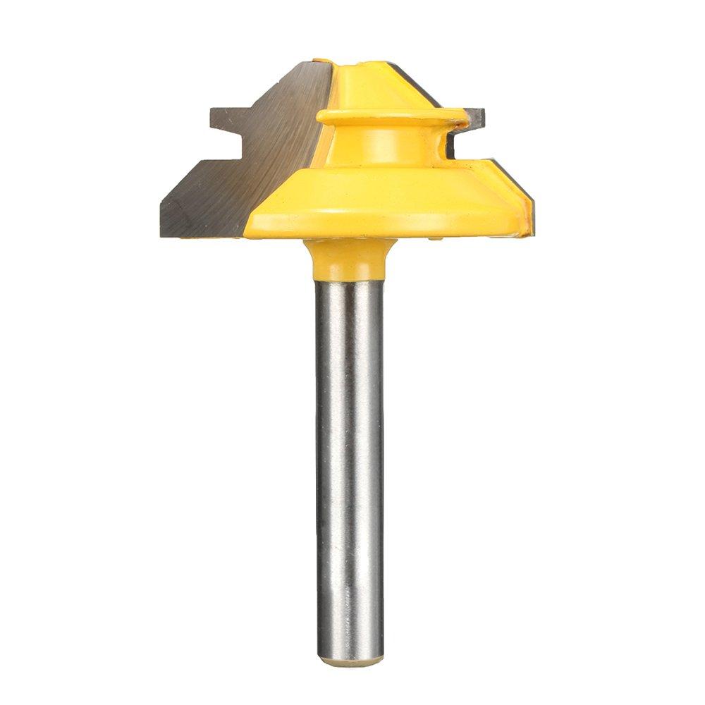 Direct store Yakamoz 1 4-Inch Shank 45-Degree Miter Indefinitely Router Small Bit Lock