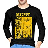 MGMT Little Dark Age Mans T Shirts Round Neck Long Sleeve Novelty Tee Tops Black S