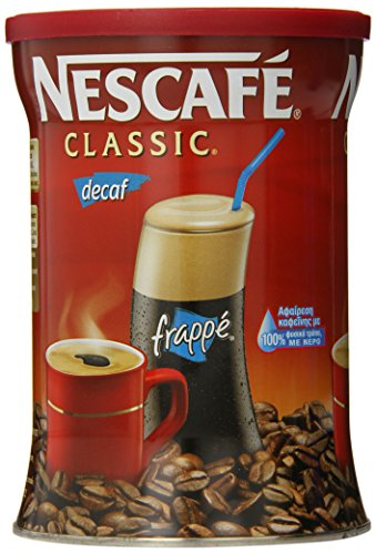 Greek Nescafe Classic Decaf Instant Frappe Coffee 200 gr