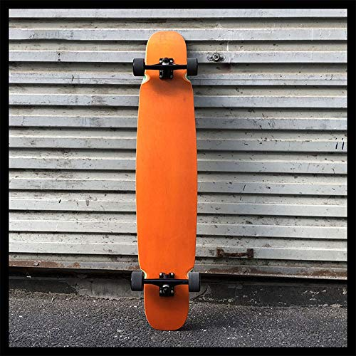 Skateboarding, Street Sweeping Allround Travel Road Dance Board, Longboard Professioneller Männlicher Erwachsener Skateboard Anfänger,Orange