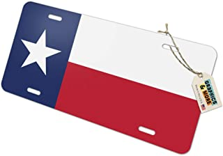 Graphics and More Texas State Flag Novelty Metal Vanity License Tag Plate