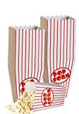 Cine pequeñas cajas de palomitas de maíz–Papel cajas de palomitas de rayas rojo y blanco–Ideal para noche de cine o película de diseño de tema, Teatro, fiesta o Carnaval circo etc. (40cajas)