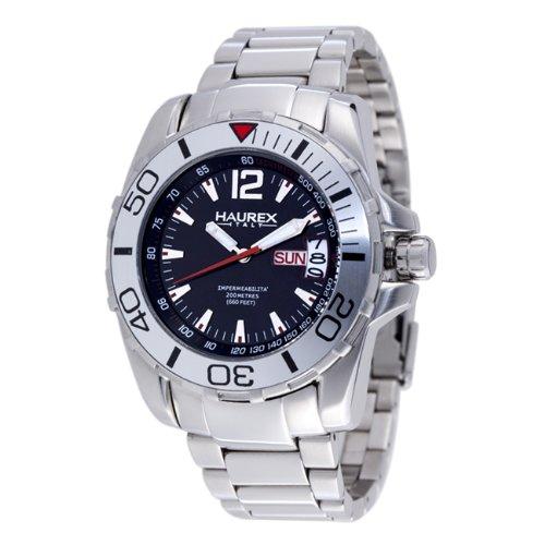 HAUREX Italy Caimano Black Dial Watch #7A354UNR- Orologio da uomo