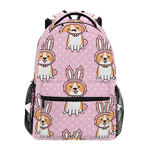 My Daily School Backpacks Welsh Corgi Dog Laptop Bag Women Casual Daypack Boys Girls Bookbag