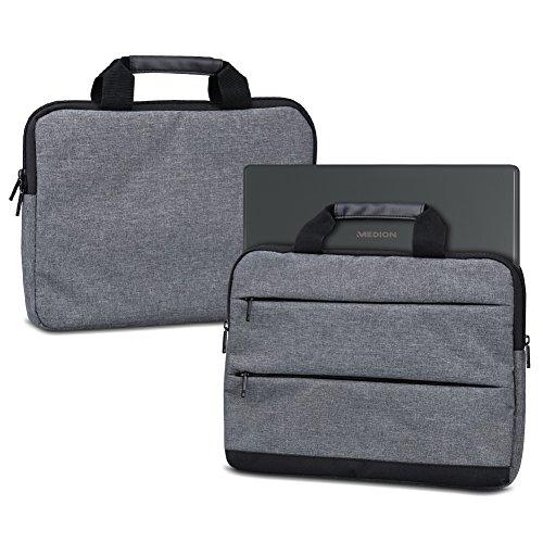 NAUC Laptoptasche Hülle kompatibel für Medion Erazer X17803 MD63530 Schutzhülle Sleeve Tasche Tragetasche Schutz Case 17.3 Zoll Cover, Farbe:Dunkelgrau