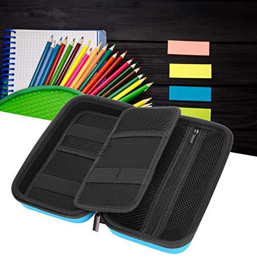 Bolsa de almacenamiento de lona de color de gran capacidad, bolsa de almacenamiento de tela Oxford para lápices para escuela primaria, secundaria, colegio y oficina(blue)