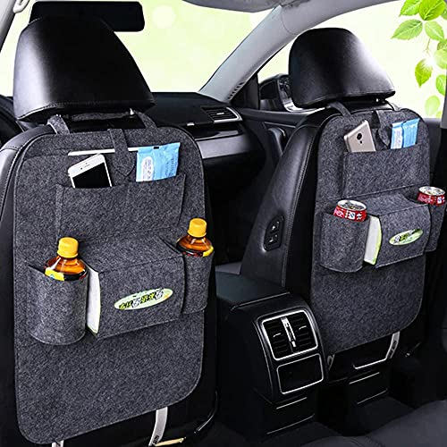 Rosei - Organizador de asiento trasero de coche, con compartimento para tableta, resistente a la suciedad, muchos bolsillos, organizador para coche con pantalla táctil de 10 pulgadas (B).