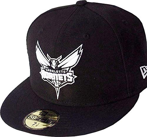 New Era Charlotte Hornets Black White Logo Cap 59fifty 5950 Fitted NBA Limited Edition