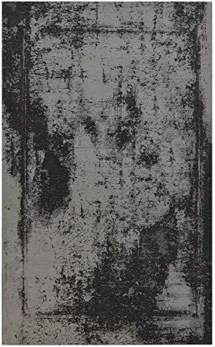 Bakero Teppich, Polyester/Baumwolle, Anthrazit, 180 x 120 x 0.6 cm