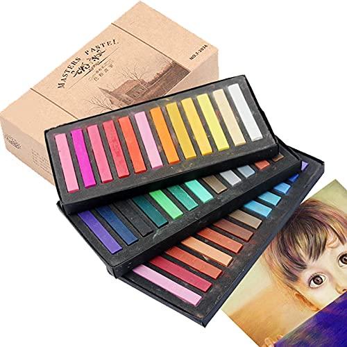 dancepandas Pastel Chalk 36 Stück Pastellkreide Block Pastellfarben Soft Pastel - Ideal für Bunte und Ausdrucksstarke Malere