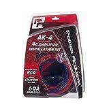 Power Acoustik AK-4 4 Gauge Amp Wire Kit with 17 RCA 120A Manl Fuse