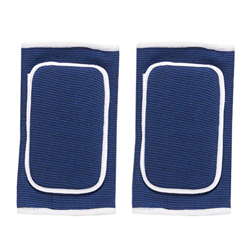 VORCOOL Ellenbogenbandage Ellbogenschoner Ellbogenschützer mit Gepolstert Schwamm für Basketball Tennis Golf Sport Arthritis Schmerzen 2 STÜCKE (Blau/Freie Größe)