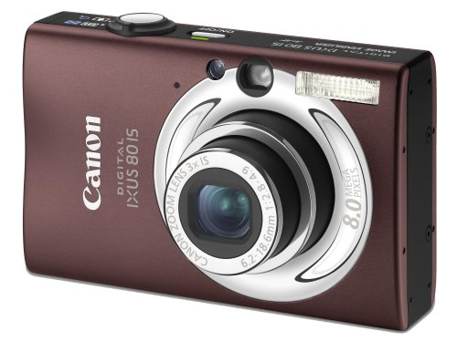 "Canon Digital IXUS 80 IS Digitalkamera (8 Megapixel, 3-fach opt. Zoom, 2,5\"" Display, Bildstabilisator) braun"