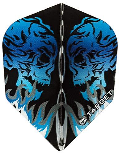TARGET Vision Blue Facing Skull No6 Dart-Flights, 5 Sets